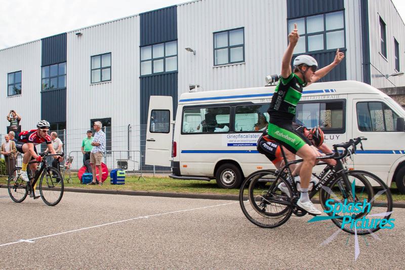 TSWV de Meet wielrennen eerste plaats BWF Oosterhout Nol van  Loon